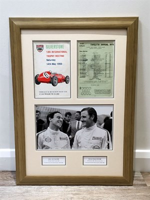 Lot 40-Jim Clark / Graham Hill Signed Presentation