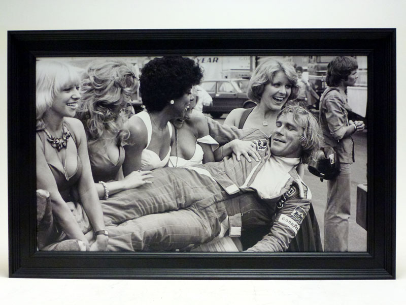 Lot 19-'James Hunt and the Grid Girls'
