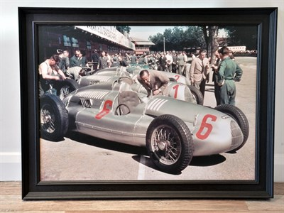 Lot 61-'Auto Union Team at the German Grand Prix, 1938'