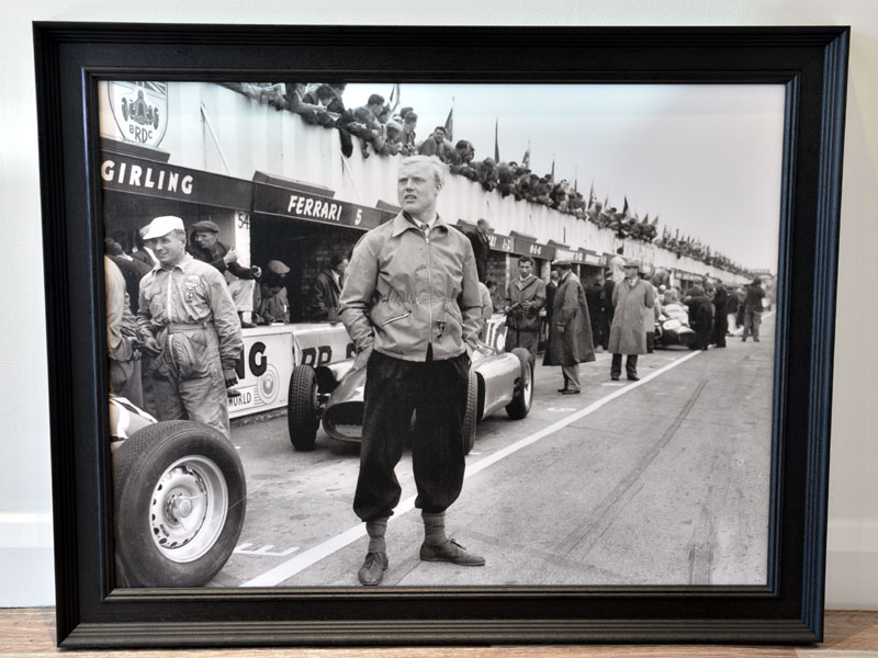 Lot 64-'Mike Hawthorn at Silverstone, 1956'