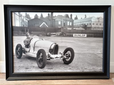 Lot 69-'Miss Eileen Ellison Corners Her Bugatti at Brooklands'