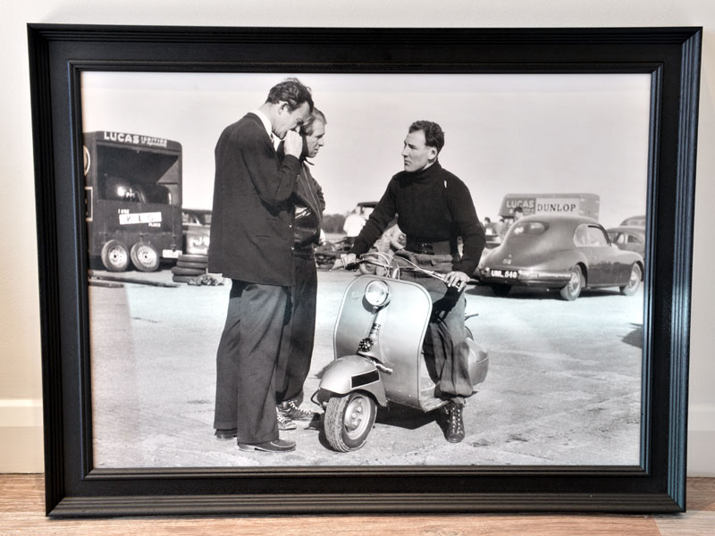 Lot 79-'Stirling Moss on His Vespa'
