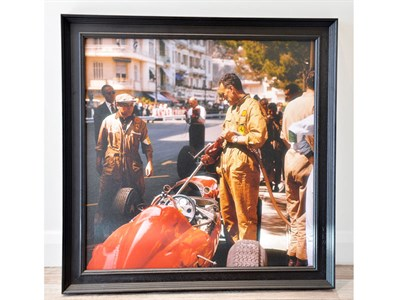 Lot 5-'Ferrari Pit Stop at the Monaco Grand Prix, 1963'