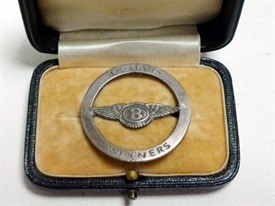 Lot 71-A Bentley 'Le Mans Winners' Lapel Badge