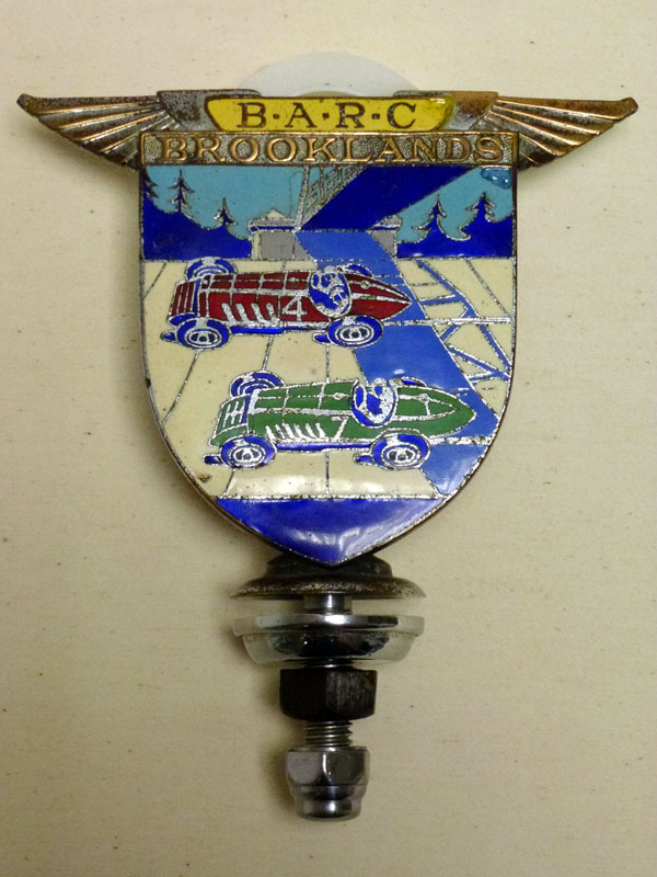 Lot 12-A BARC Brooklands Members' Enamel Car Badge