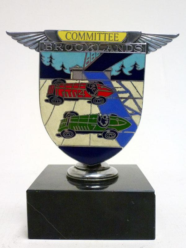 Lot 8-A BARC Brooklands 'Committee' Enamel Car Badge