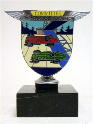 Lot 34-A BARC Brooklands 'Committee' Enamel Car Badge