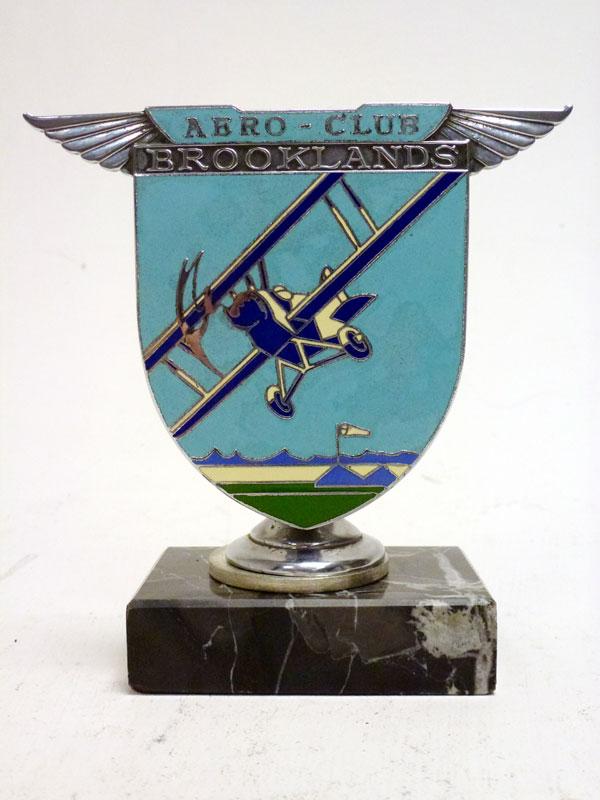 Lot 30-A Brooklands 'Aero-Club' Enamel Car Badge