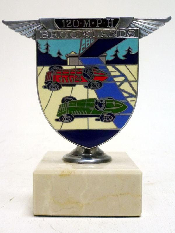 Lot 42-A Brooklands '120 MPH' Enamel Car Badge