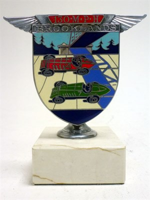 Lot 45-A Brooklands '130 MPH' Enamel Car Badge