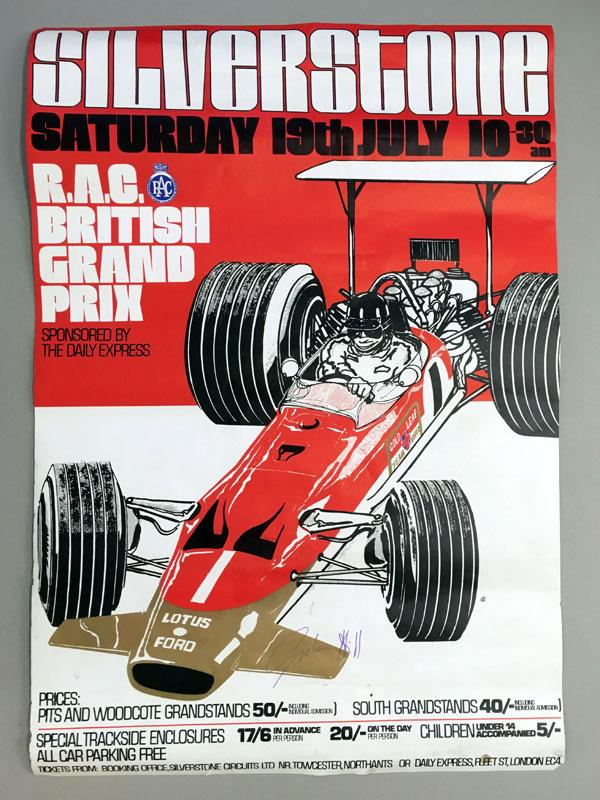 Lot 29-Signed 1969 British Grand Prix Ephemera
