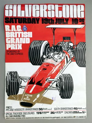 Lot 29-Signed 1969 British Grand Prix Ephemera