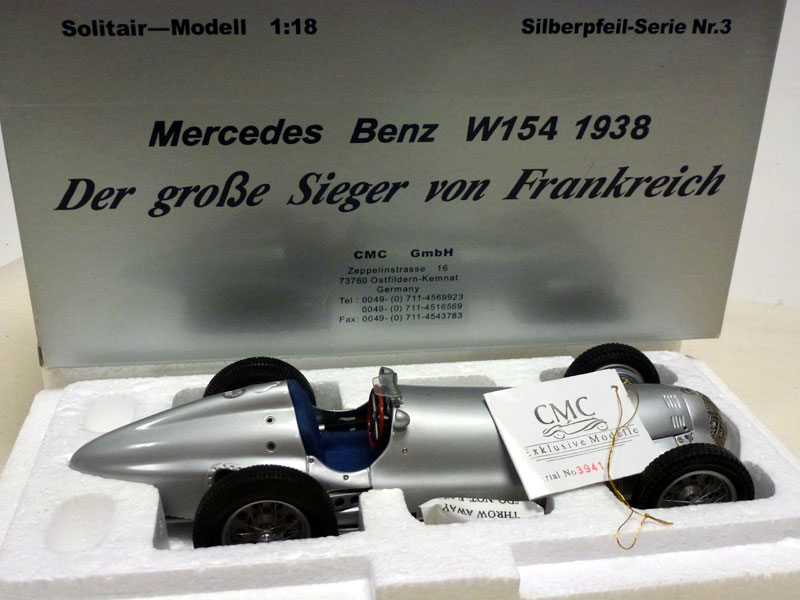 Lot 4-1938 Mercedes-Benz W154 Scale Model by CMC