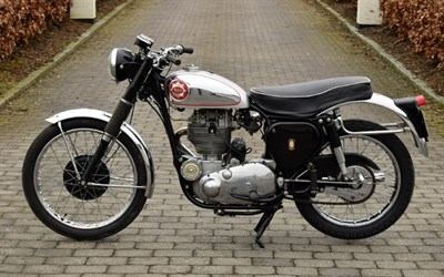 Lot 66-1957 BSA DB34 Gold Star