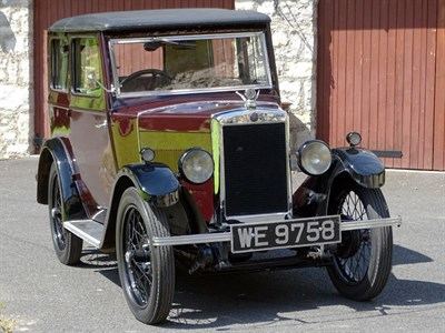 Lot 7-1930 Morris Minor OHC Coachbuilt Saloon