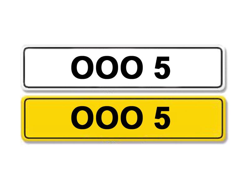 Lot 3-Registration Number OOO 5