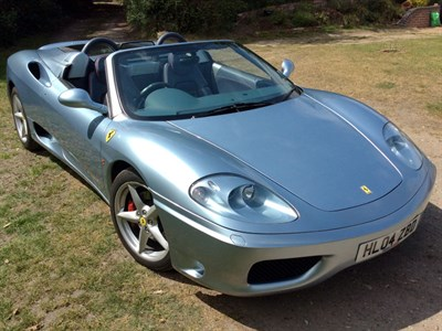 Lot 91 - 2004 Ferrari 360 Spider F1