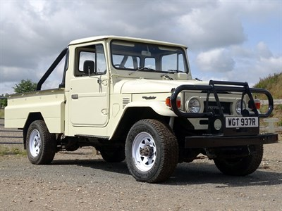 Lot 31-1976 Toyota HJ45 Land Cruiser Pickup