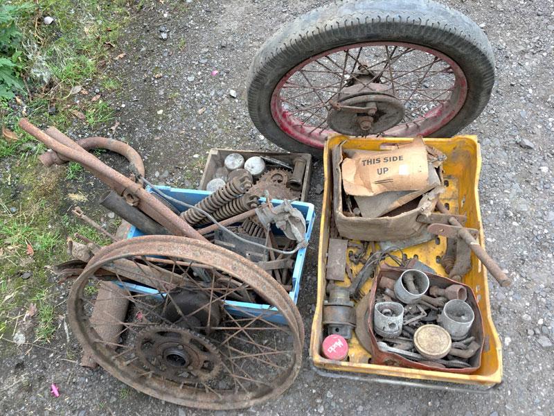 Lot 1-Various Motorcycle Parts