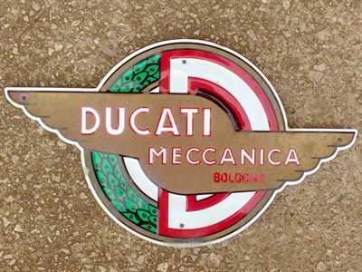 Lot 9-Ducati 'Meccanica Bologna' Dealership Sign