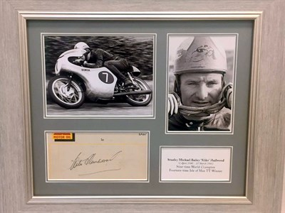 Lot 10-Mike Hailwood / Honda Signed Presentation
