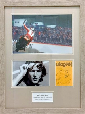 Lot 12-Barry Sheene / Suzuki Signed Presentation