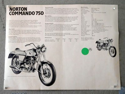 Lot 13-Norton Commando 750 Four-part Poster / Brochure