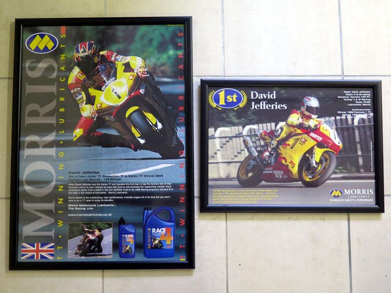 Lot 18-David Jeffries Isle of Man TT Posters