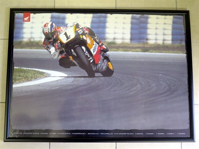 Lot 19-Mick Doohan Poster & Team Green Signalling Board