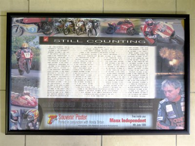 Lot 20-Honda Isle of Man Souvenir Posters
