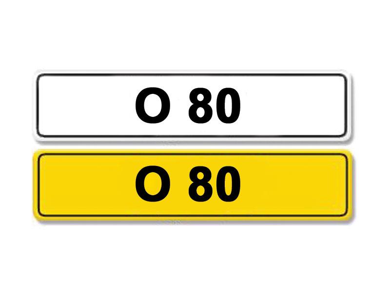 Lot 3-Registration Number O 80