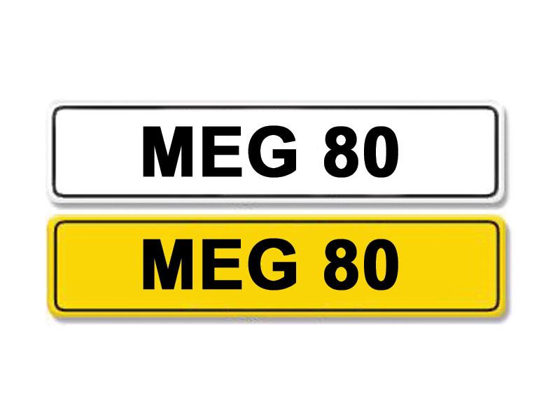 Lot 4-Registration Number MEG 80
