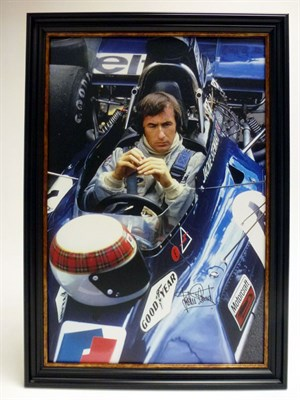 Lot 14-Jackie Stewart Signed Artwork