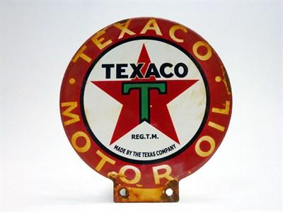 Lot 49 - Texaco Enamel Sign