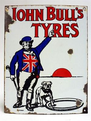 Lot 73-John Bull Tyres Pictorial Enamel Sign