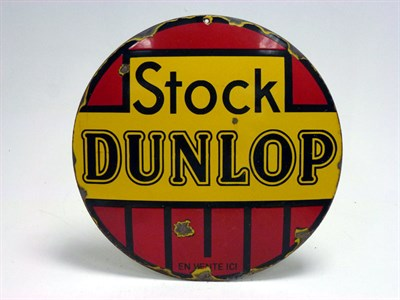 Lot 93-Stock Dunlop Enamel Sign