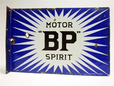 Lot 36-BP Motor Spirit Enamel Sign