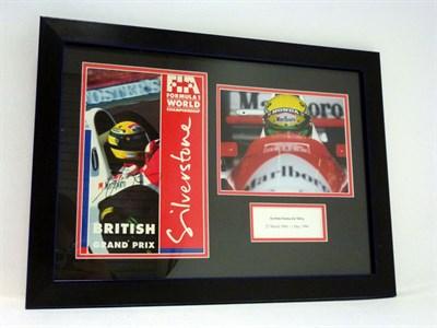 Lot 39-Ayrton Senna Signed Presentation (1960-1994)