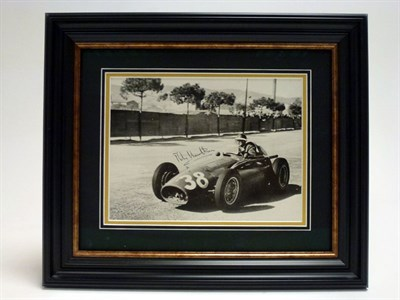 Lot 51 - A Rare Mike Hawthorn Signed Photograph (1929-1959)