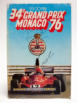 Lot 34-1976 Monaco Grand Prix Programme - Signed