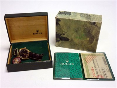 Lot 20-Solid 18Ct Gold Rolex Oyster, Supplied New in April 1957