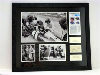 Lot 10 - Graham and Damon Hill Signed Presentation