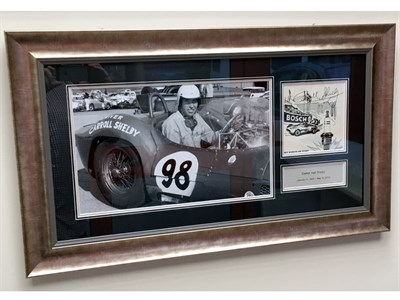 Lot 45-Carroll Shelby in the Maserati Birdcage Signed Presentation (1923-2012)