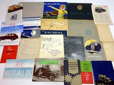 Lot 1-Pre-War Vauxhall Sales Brochures