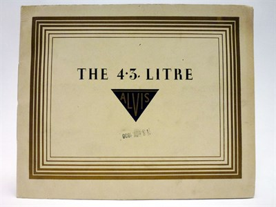 Lot 7 - The 4.3 Litre Alvis Sales Brochure