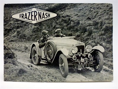 Lot 9 - Frazer-Nash Range Brochure