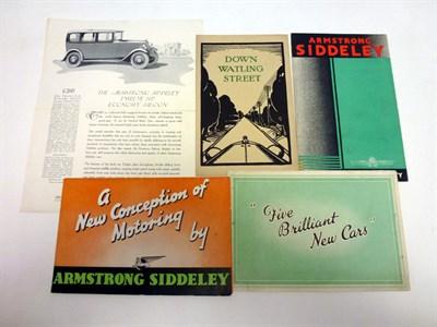 Lot 11 - Pre-War Armstrong Siddeley Sales Literature
