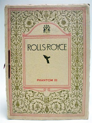 Lot 15-Rolls-Royce Phantom III Sales Brochure