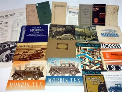Lot 23-Pre-War Morris Sales Literature