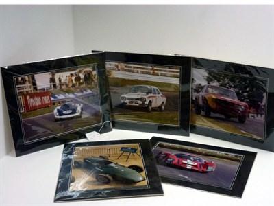 Lot 27-Five Large-Format Motorsport Photographs
